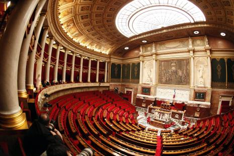 L' ASSEMBLEE NATIONALE PALAIS BOURBON HEMICYCLE DEPUTES